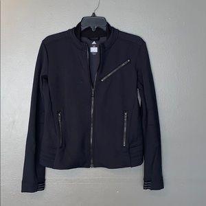 Adidas gray and black Moto athletic jacket size M